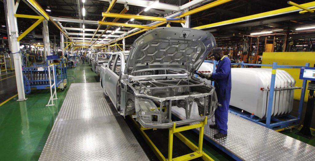 A Ford Engineer Work On New Ranger At The Silverton Plant Assembly Line In