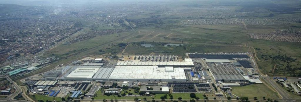 The Ford South Africa Silverton plant in Pretoria seen from overhead