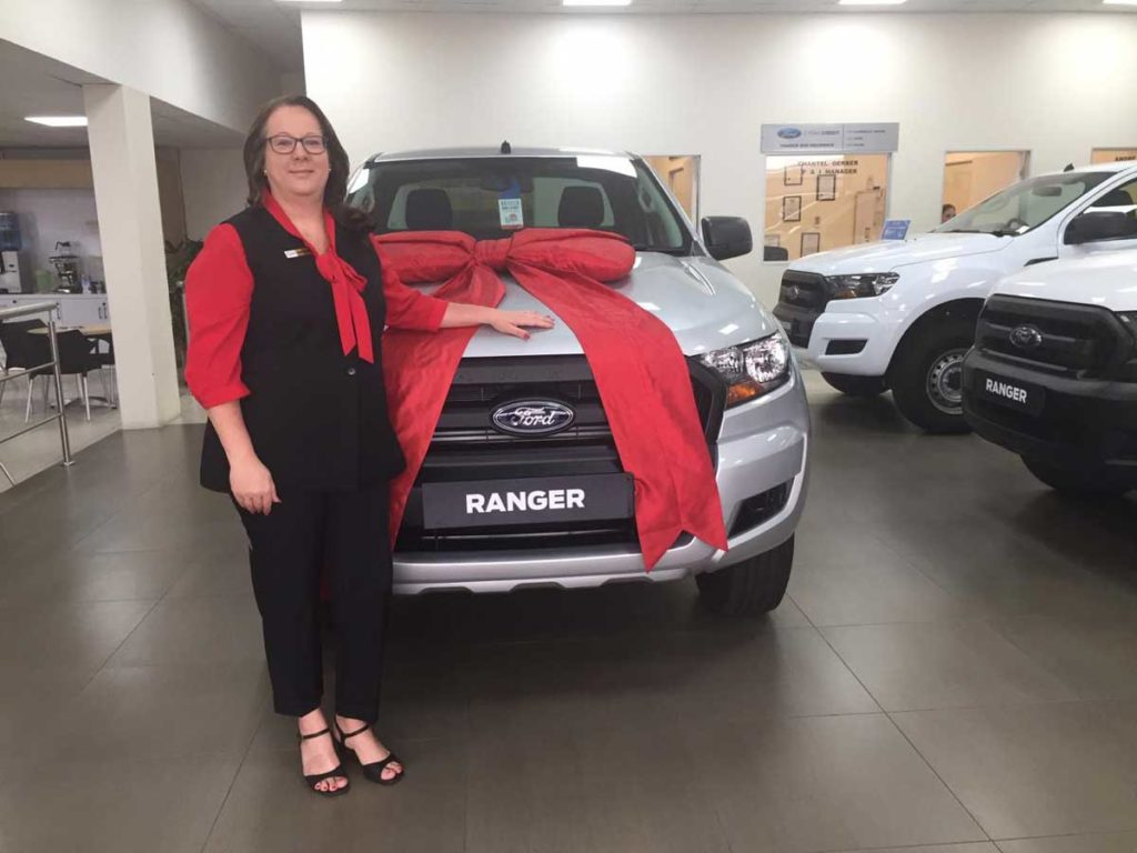 CMH Ford PTA- Charmain with a ford Ranger