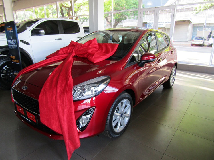 Christmas-Red-Ford-Ford-Fiesta-Side-View-CMH-Kempster-Ford-Pretoria