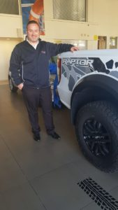 CMH-Kempster-Ford-Hatfield- New sales manager -Ryan Raptor