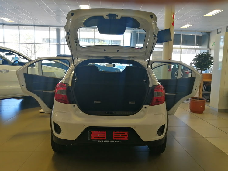 Ford Figo - rear doors open