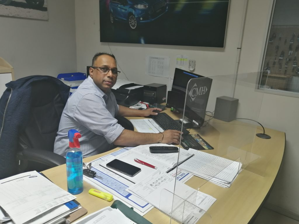 CMH KEMPSTER FORD DURBAN WELCOMES VINCENT GOVENDER!
