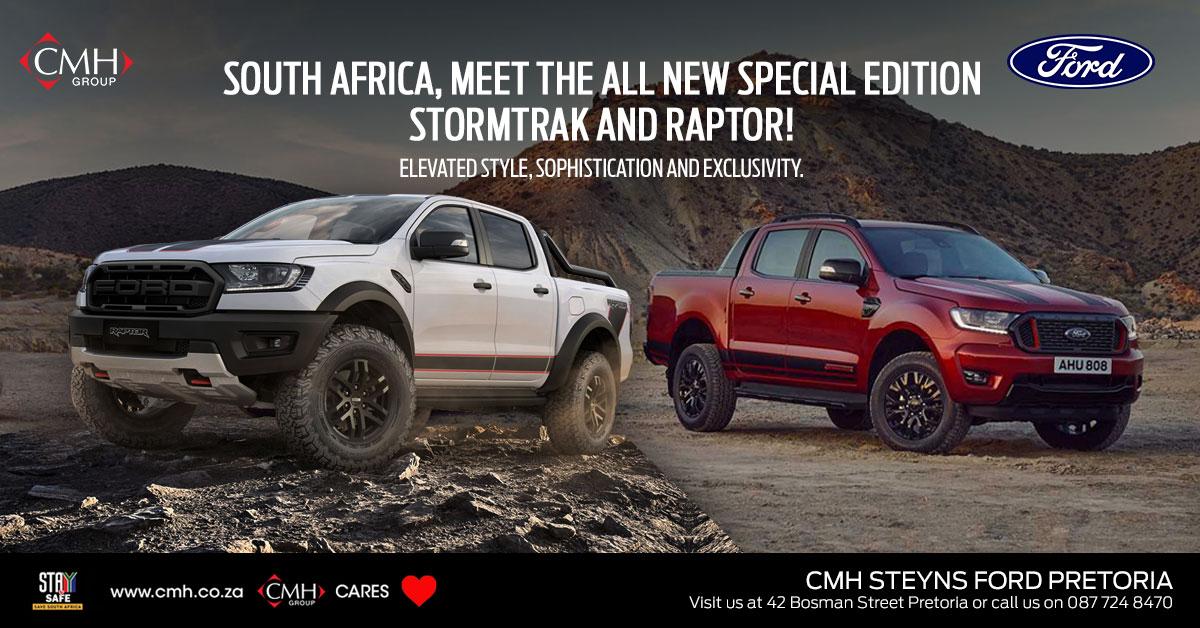 Ford Ranger Stormtrak and Raptor